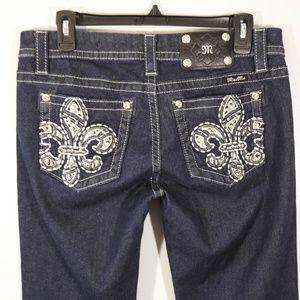 Miss Me Mid-Rise Easy Skinny Dark Wash Jeans 29x30